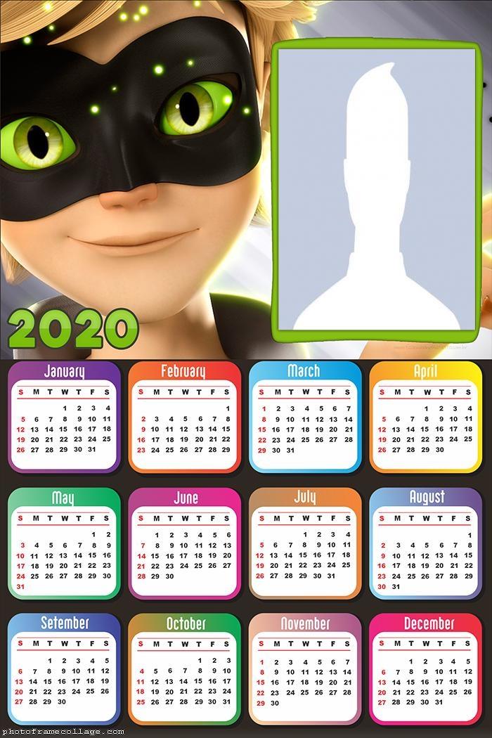 Calendar 2020 CatNoir Face Online