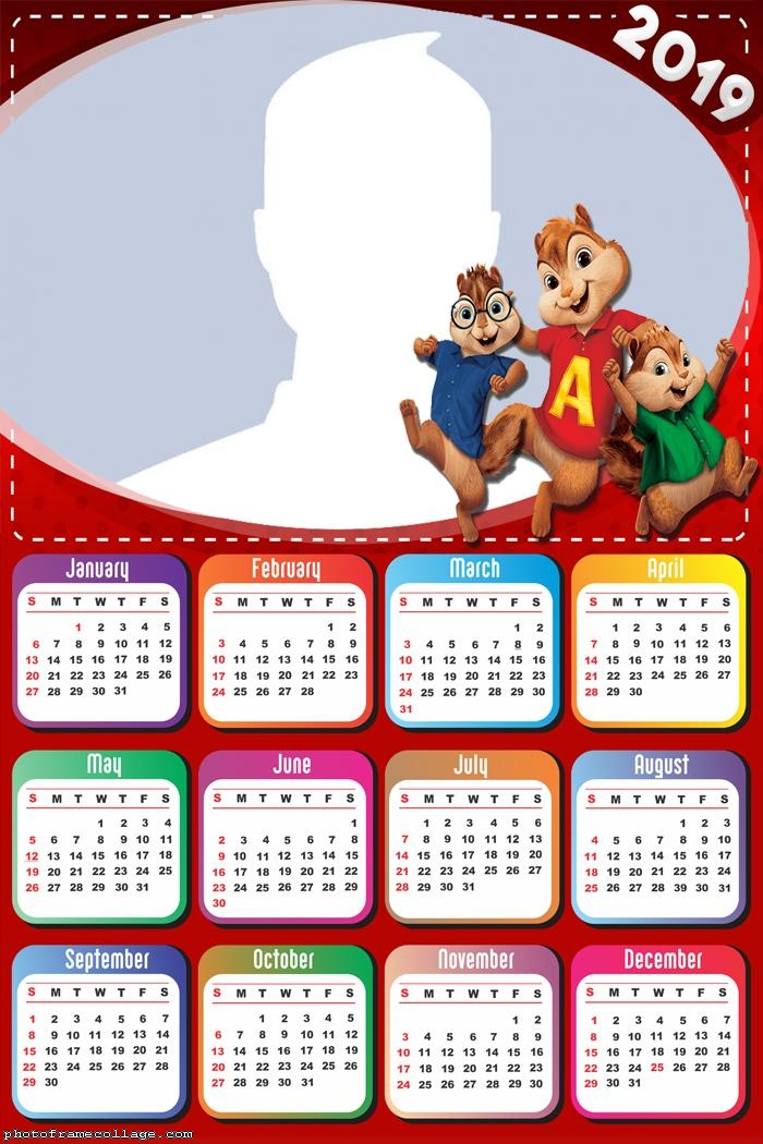 Alvin and the Chipmunks Calendar 2019