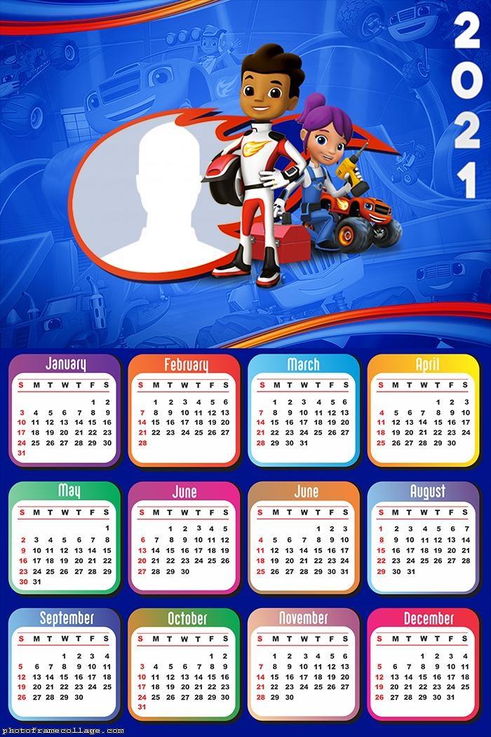 Calendar 2021 Blaze Monster Machine