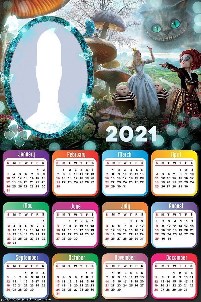 Calendar 2021 Alice in Wonderland Characters
