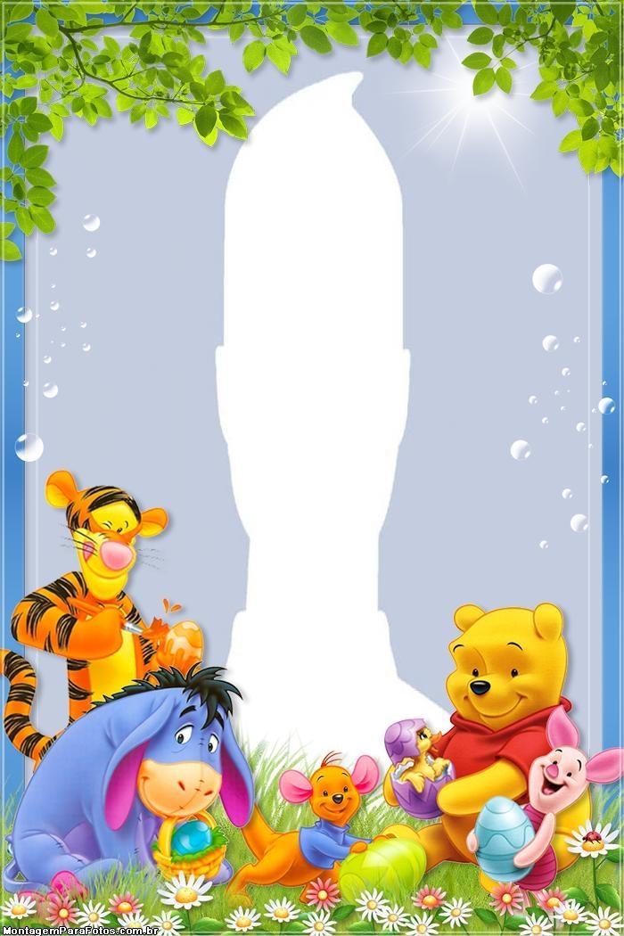 Pooh Bear Easter Photo Frame