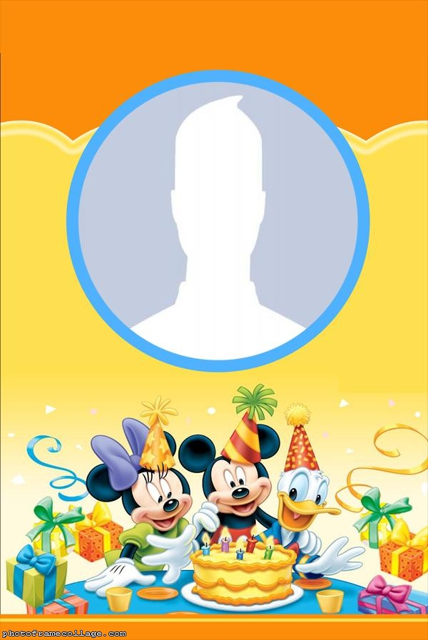 Birthday Mickey Frame Pictures