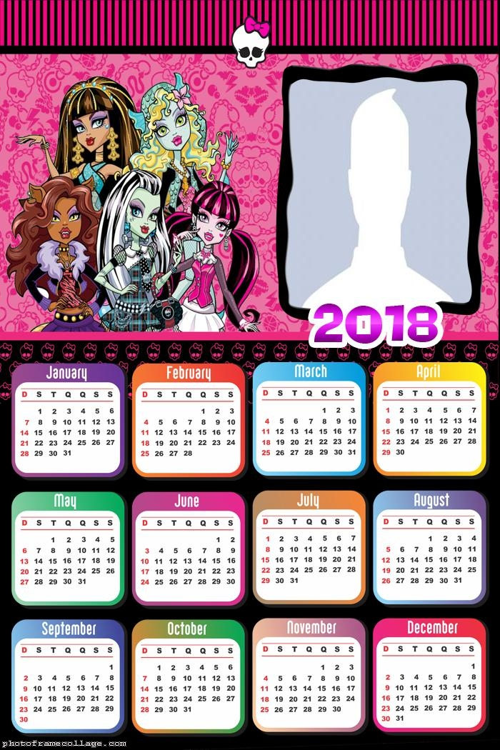 Calendar 2018 Monster High