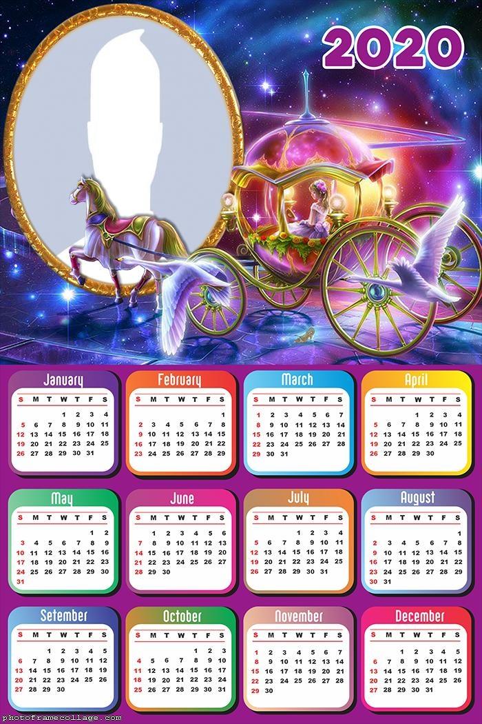 Princess Carriage Calendar 2020