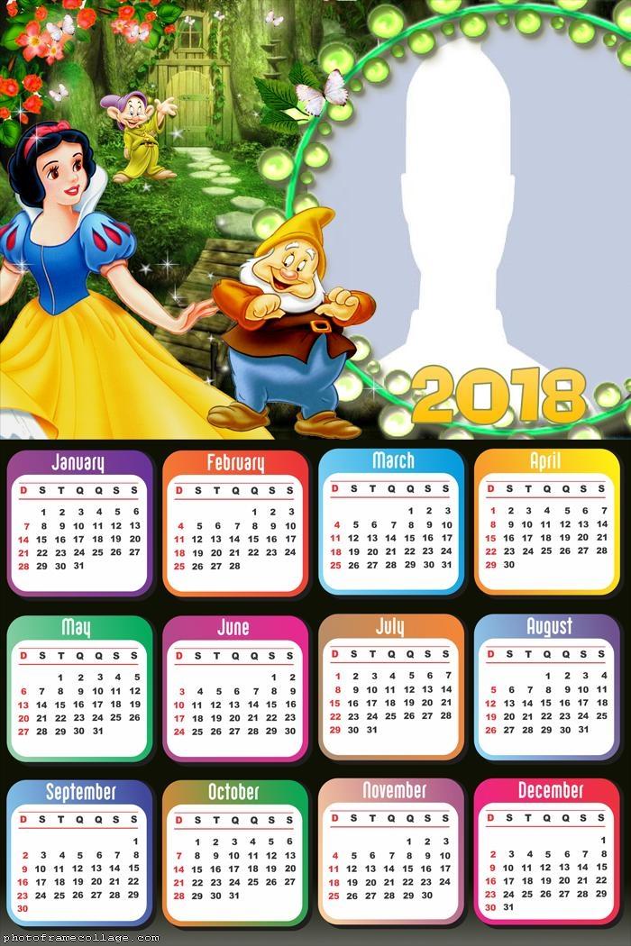 Calendar 2018 Snow White and Dwarf