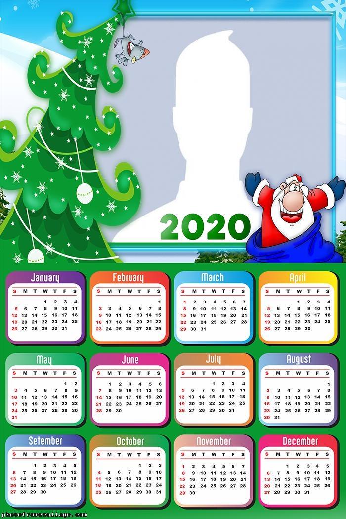 Santa Claus Cartoons Calendar 2020