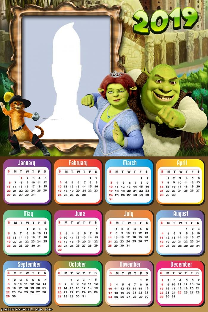 Shrek Calendar 2019