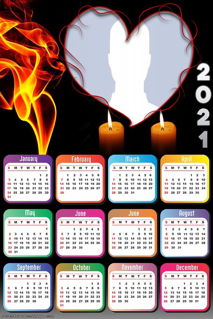 Calendar 2021 Romantic Heart