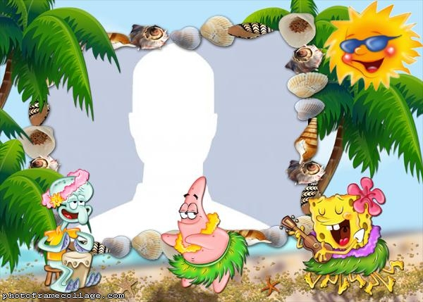 Spongebob Hawaii Photo Collage