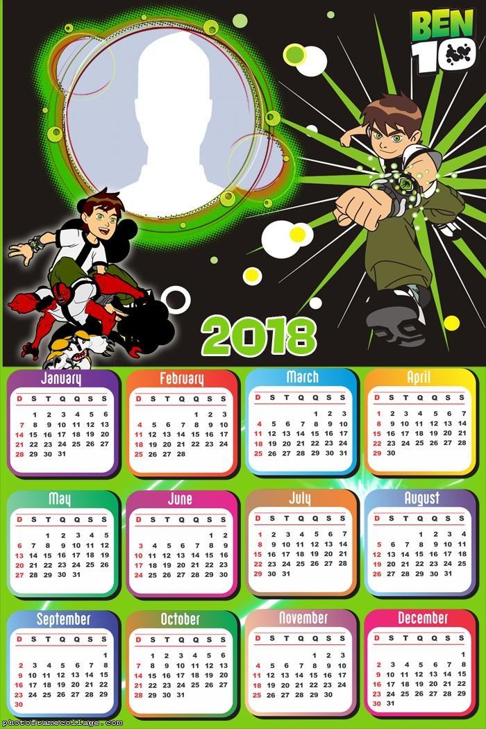 Calendar 2018 Ben 10