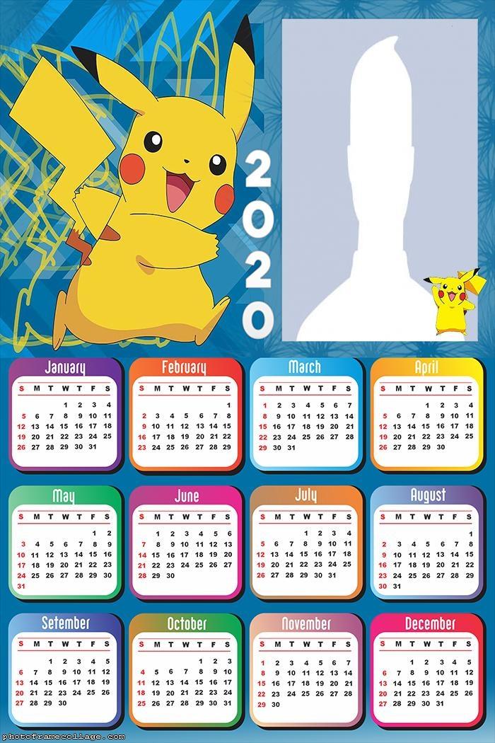 Pikachu Pokemon Calendar 2020