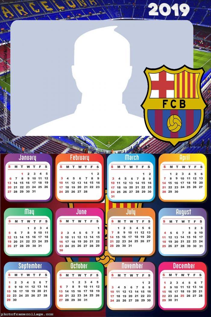 Barcelona FC Calendar 2019