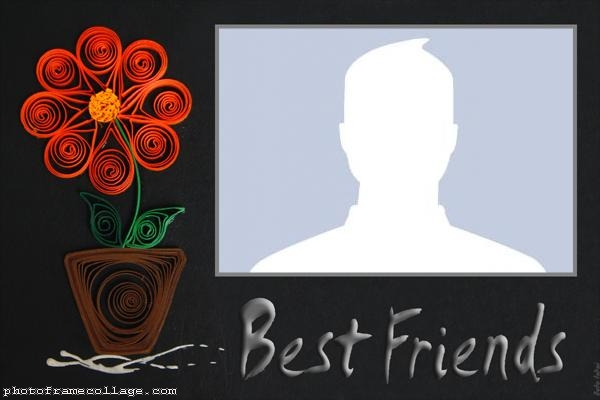 Best Friends Flowers Photo Montage