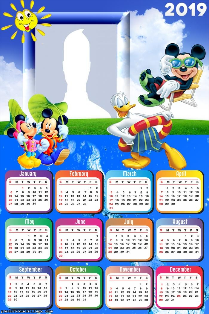 Mickey Summer Disney Calendar 2019