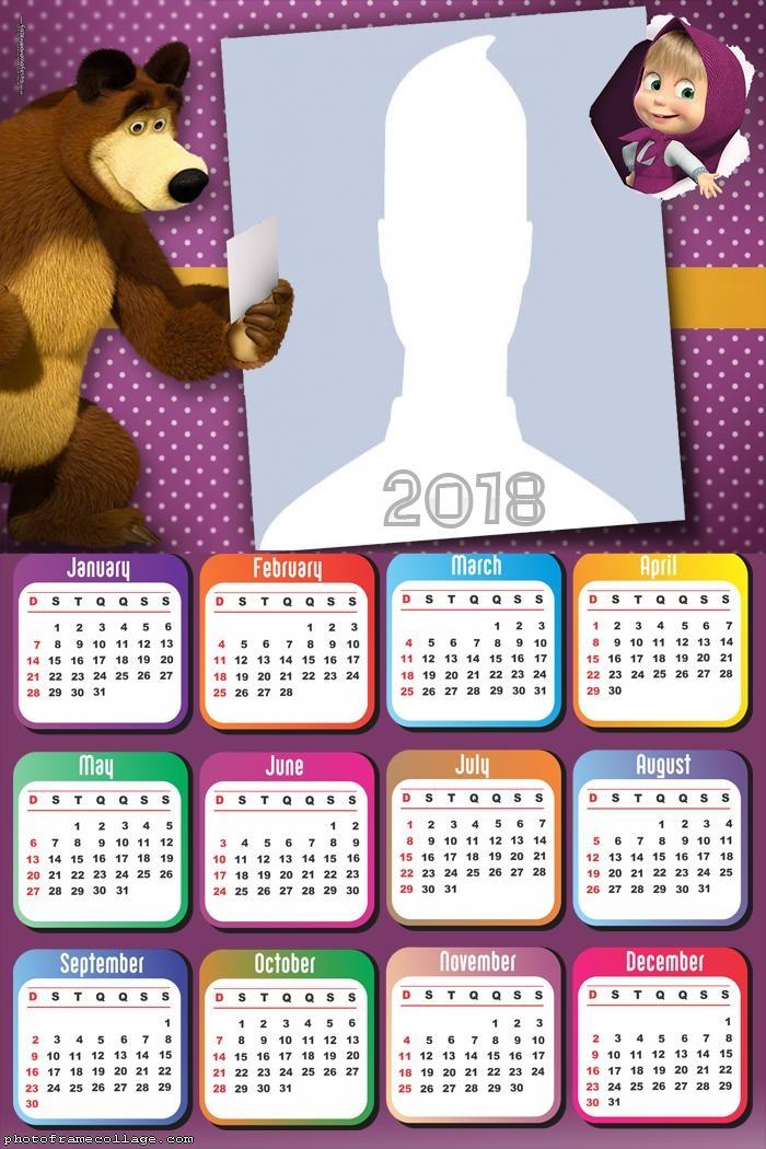 Calendar 2018 Masha et Michka