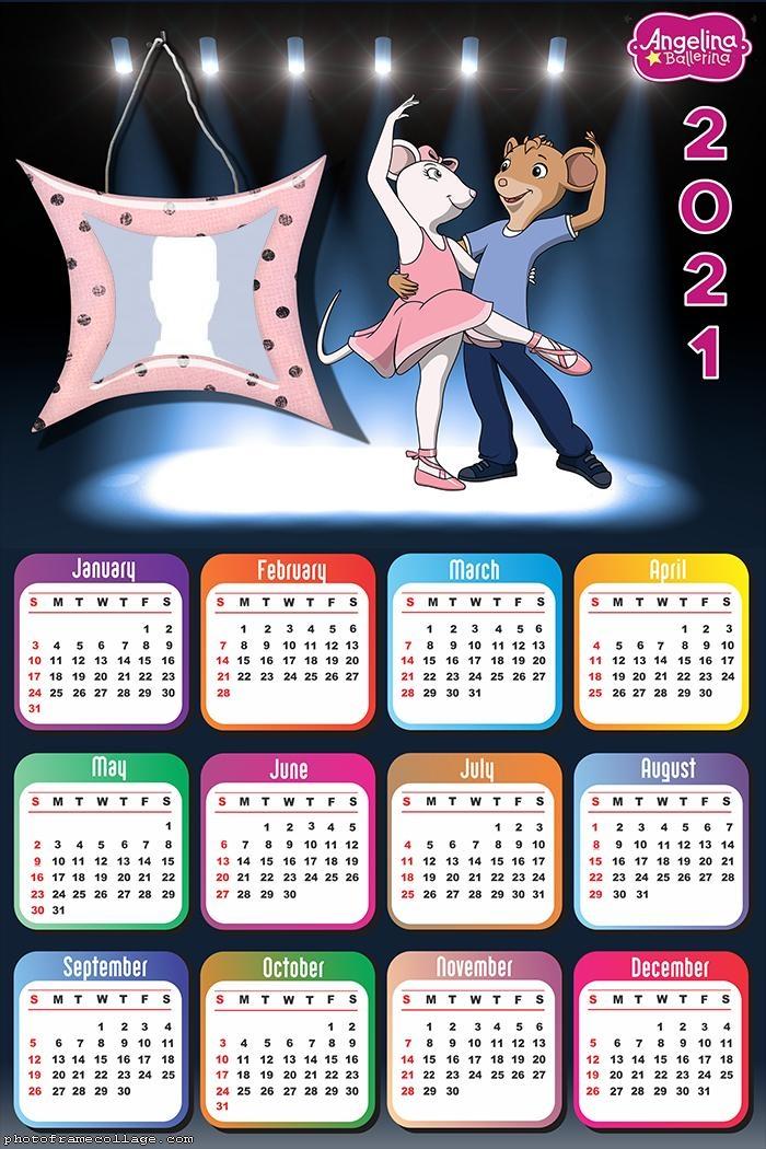 Calendar 2021 Angelina Ballerina