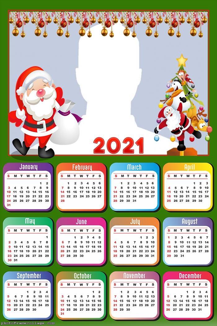 Calendar 2021 Christmas Decoration
