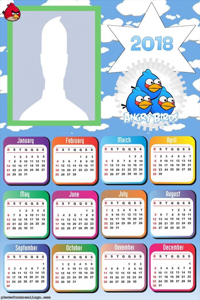 Calendar 2018 Angry Birds