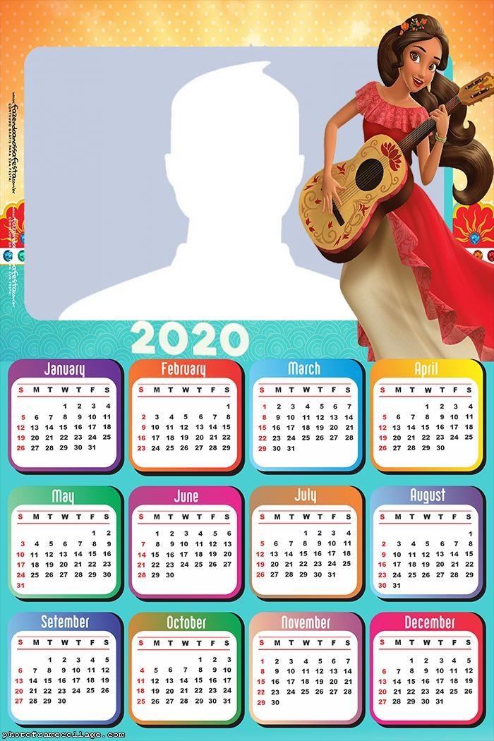 Elena of Avalor Calendar 2020 Photo Collage