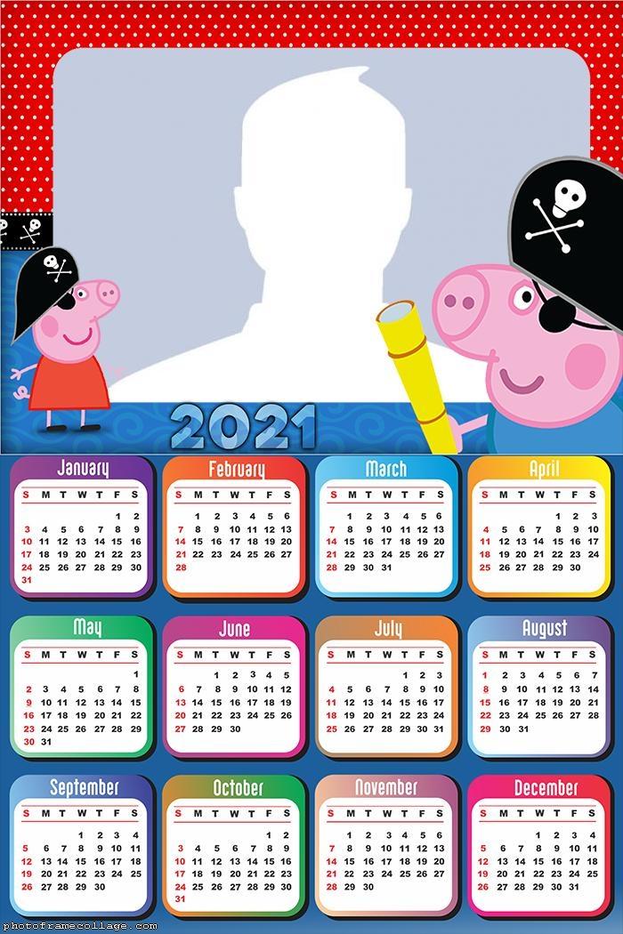 Calendar 2021 George Pirate