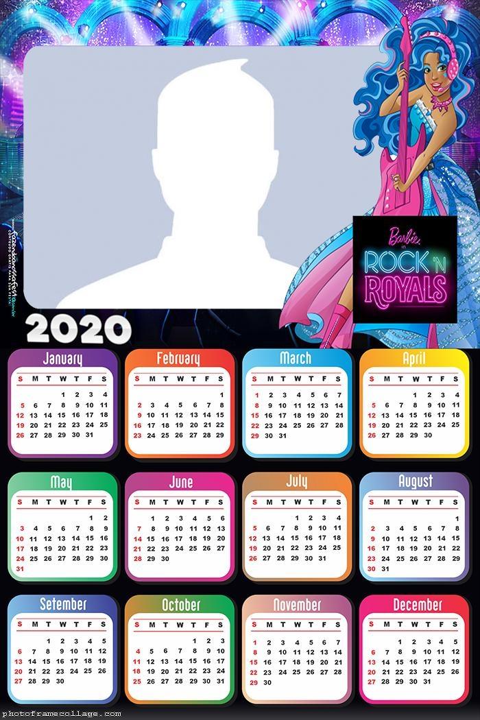 Barbie Queens of Rock Calendar 2020