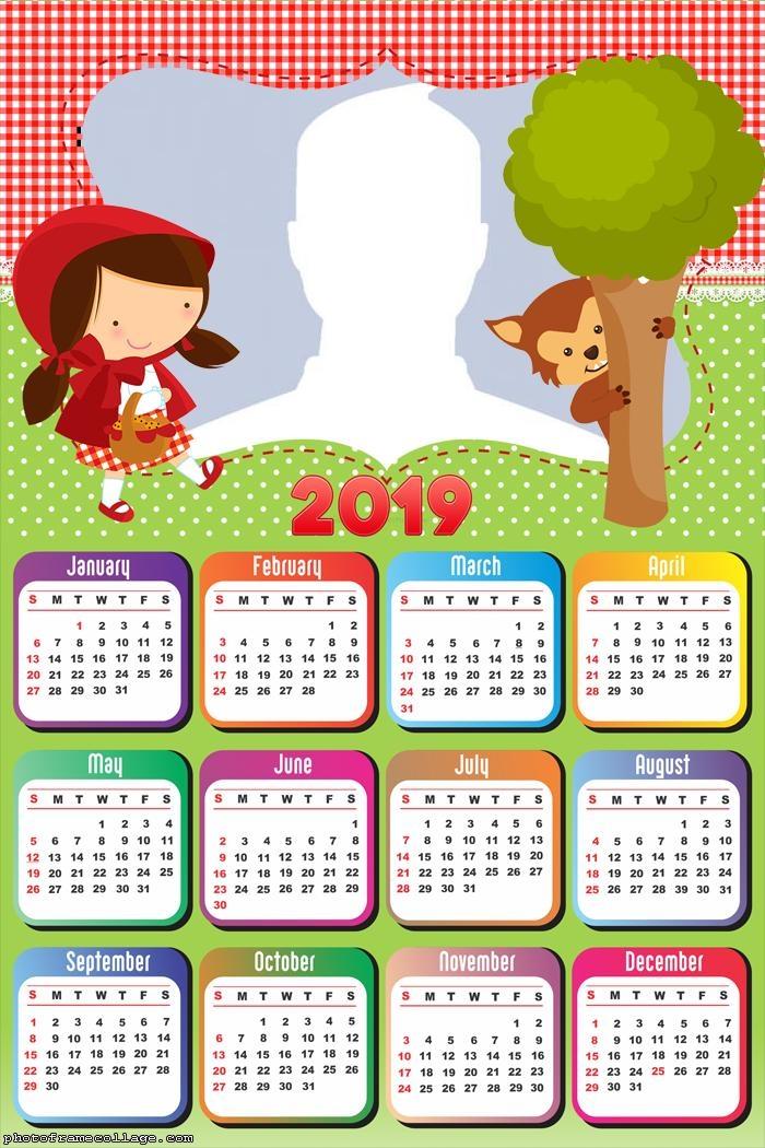 Little Red Riding Hood Calendar 2019