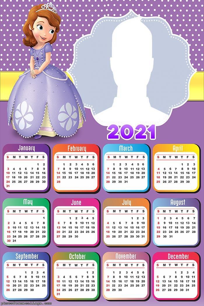 Princess Sofia Calendar 2021