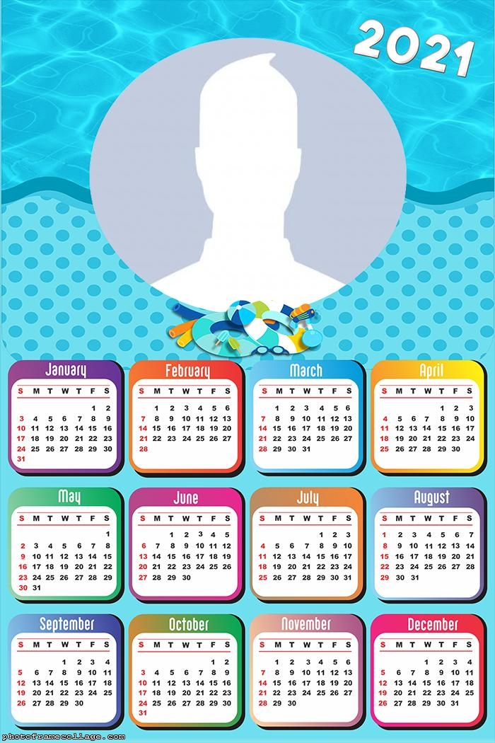 Children Beach Calendar 2021