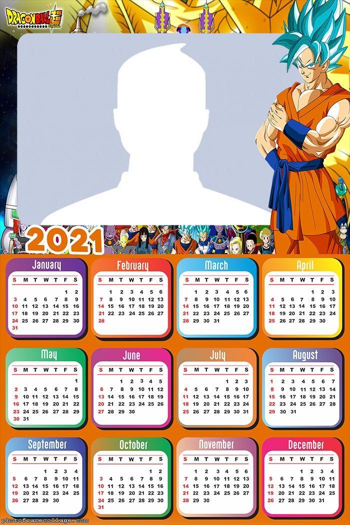 Goku Dragon Ball Calendar 2021