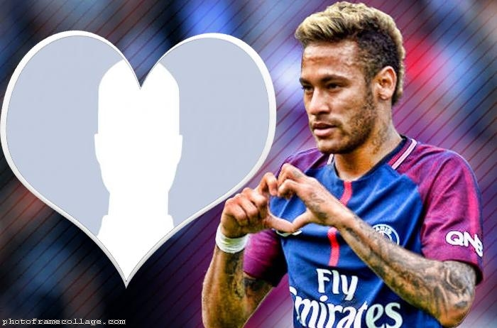 Neymar Jr Heart Photo Frame