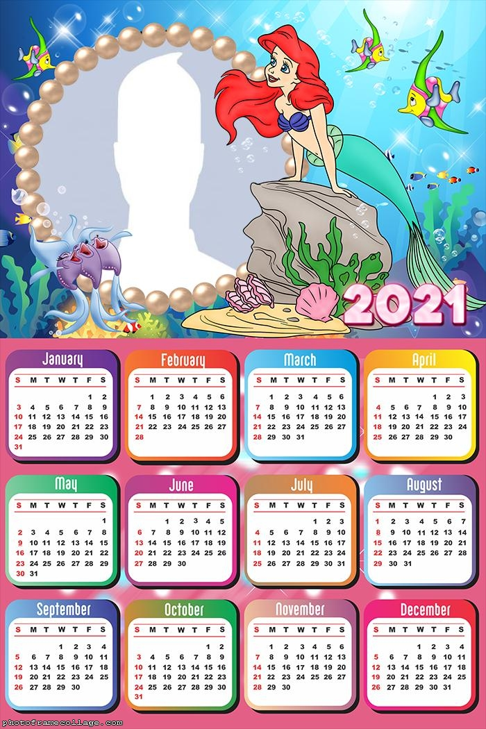 Calendar 2021 Little Mermaid