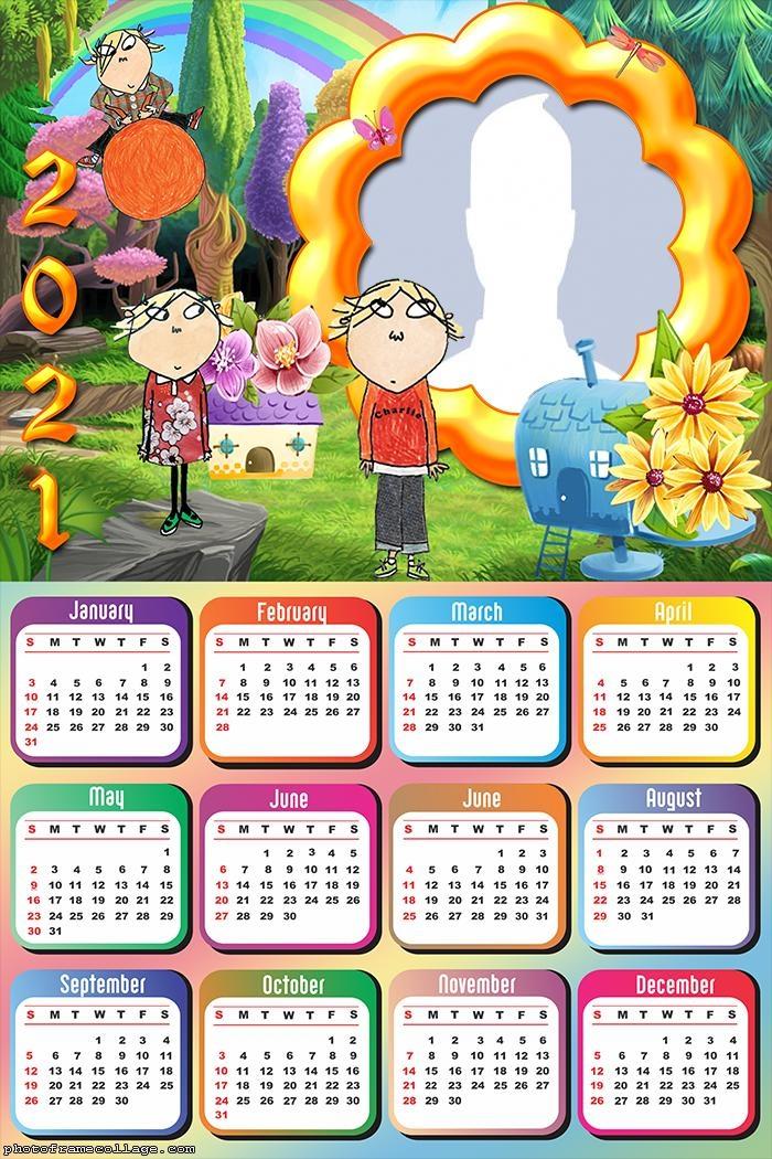 Calendar 2021 Charlie and Lola