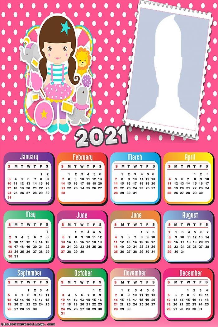 Calendar 2021 Girl Circus Theme