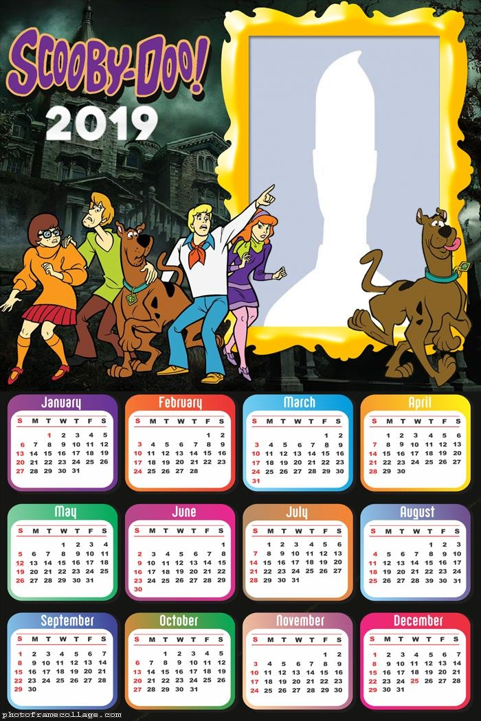 Scooby Doo Calendar 2019 Photo Frame Collage