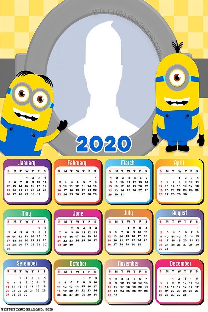 Minions Cute Calendar 2020