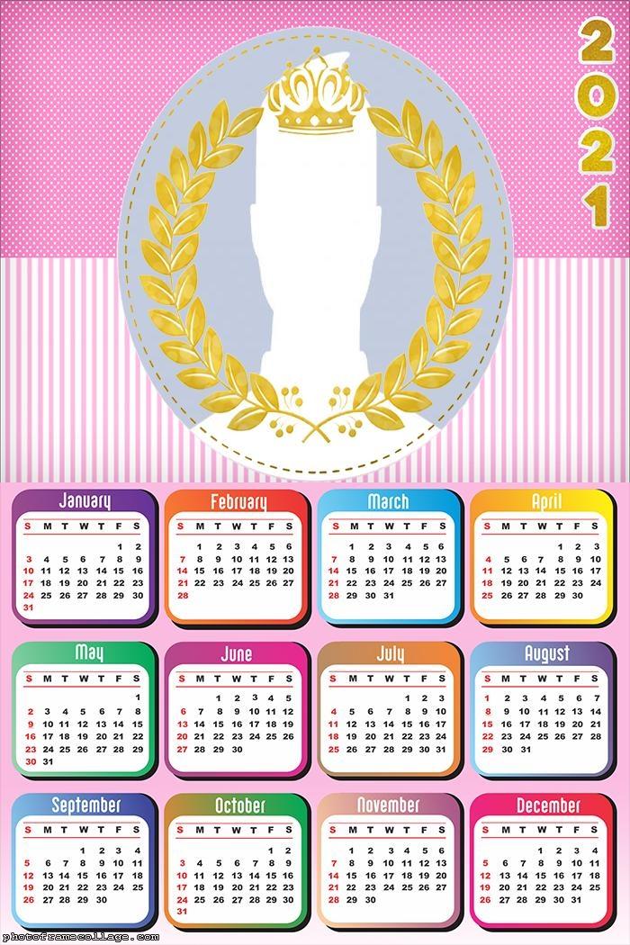 Calendar 2021 Girl Royal Theme