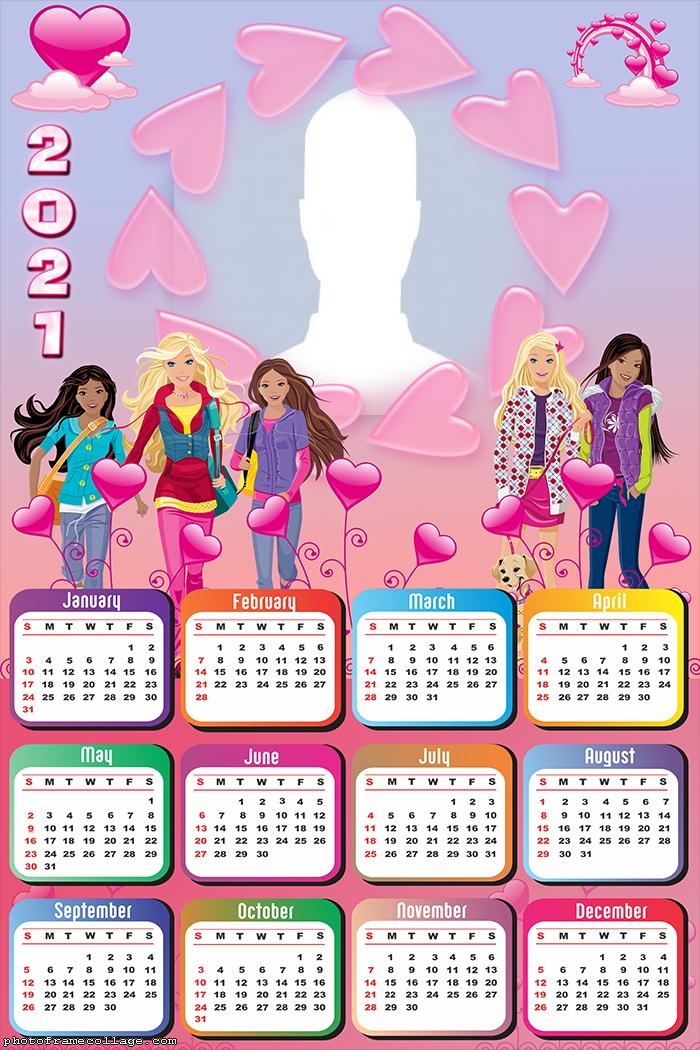 Calendar 2021 Barbie Dream House