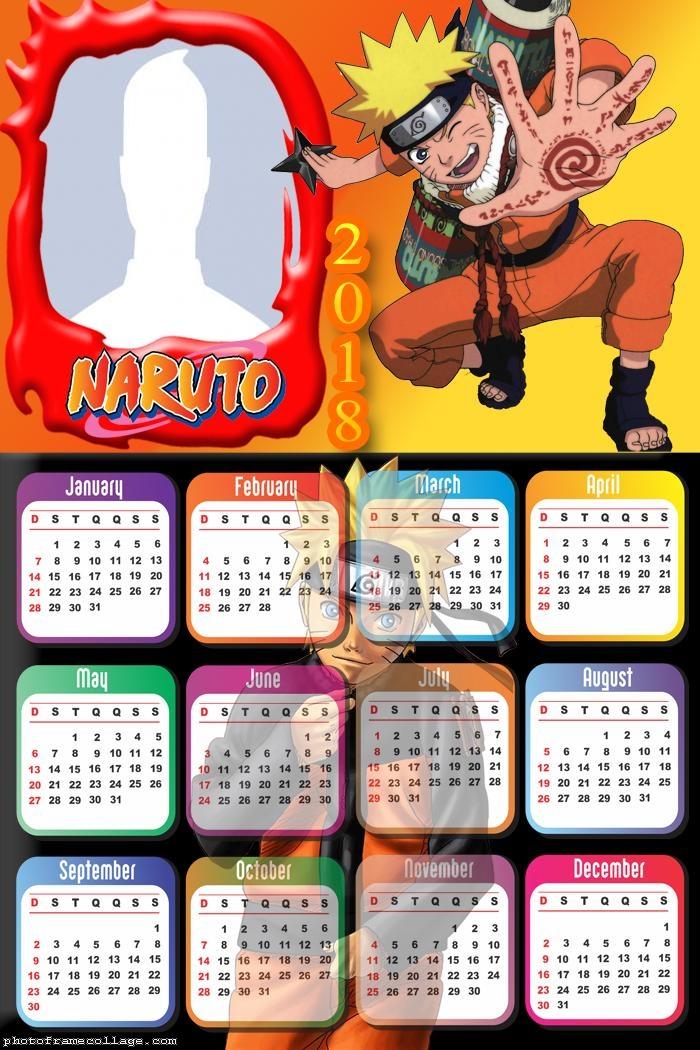 Calendar 2018 Naruto
