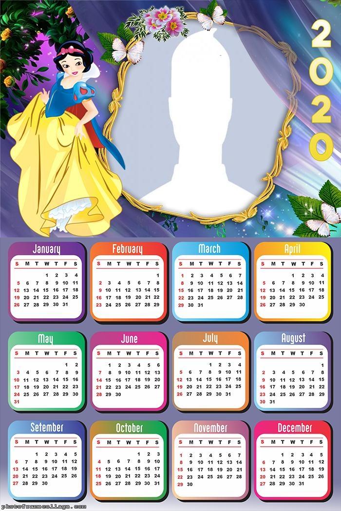 Snow White Calendar 2020 Frame Photo
