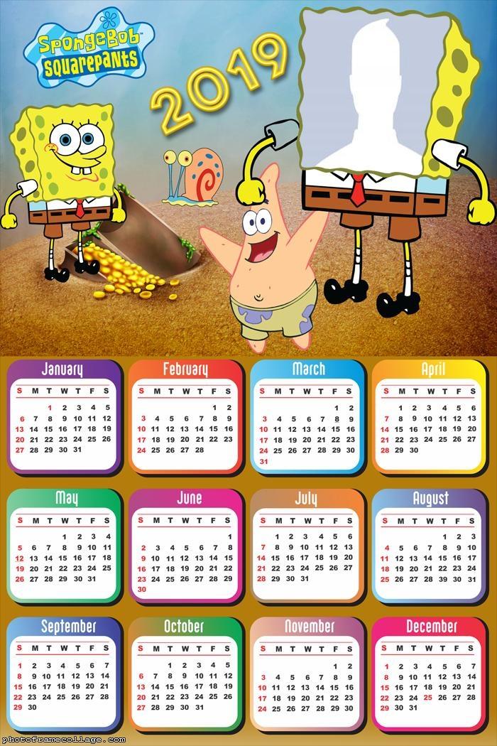 Sponge Bob Calendar 2019