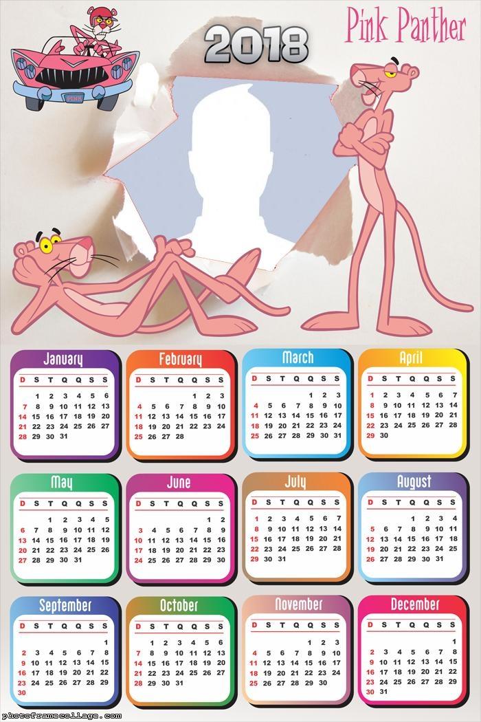 Calendar 2018 Pink Panther