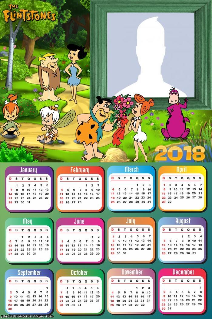 Calendar 2018 The Flintstones