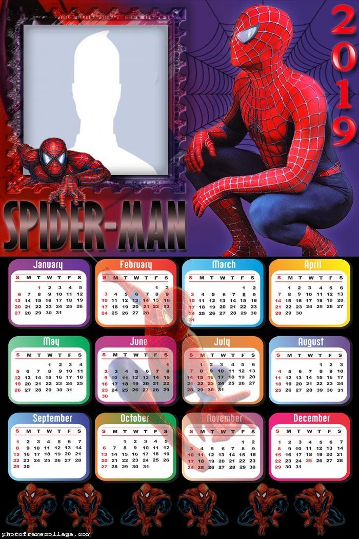 Spider Man Homecoming Calendar 2019