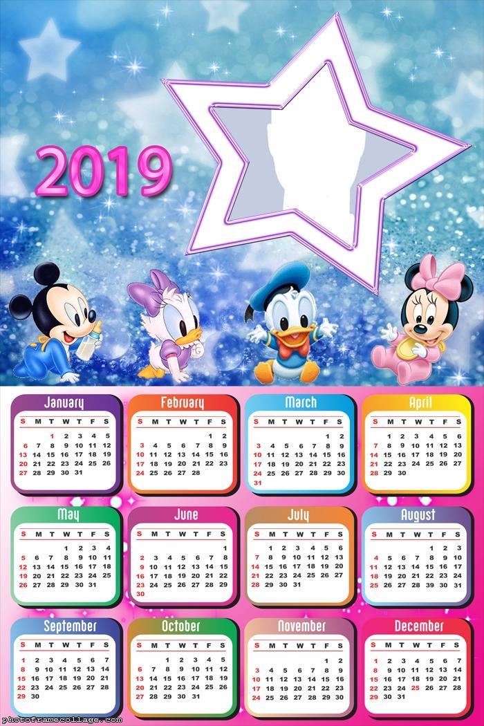 Star Disney Baby Calendar 2019