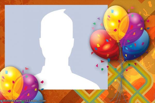 Beautiful Birthday Balloons Photo Collage