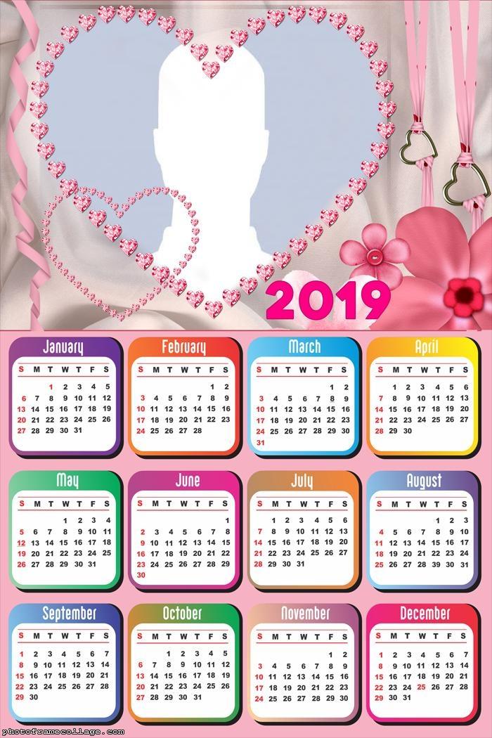 Romantic Heart Calendar 2019