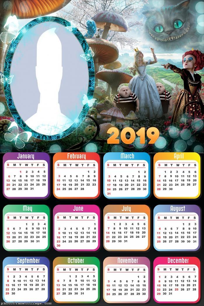 Alice in Wonderland Calendar 2019