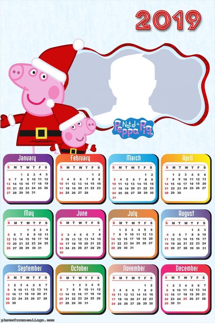 Christmas Peppa Pig Calendar 2019