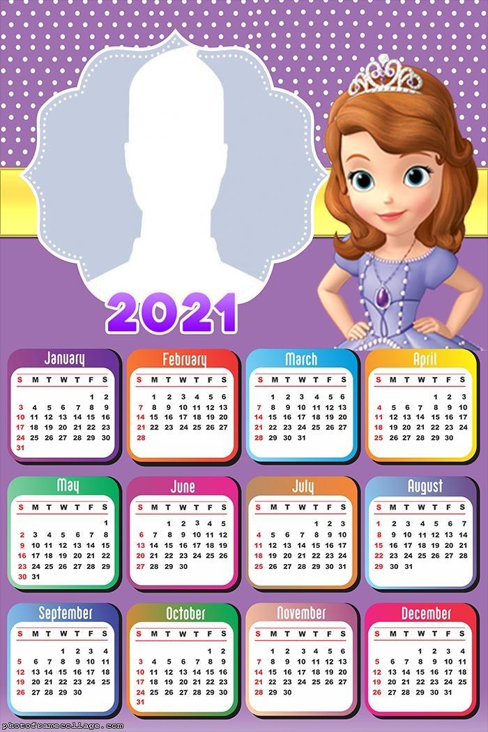 Calendar 2021 Sofia the First