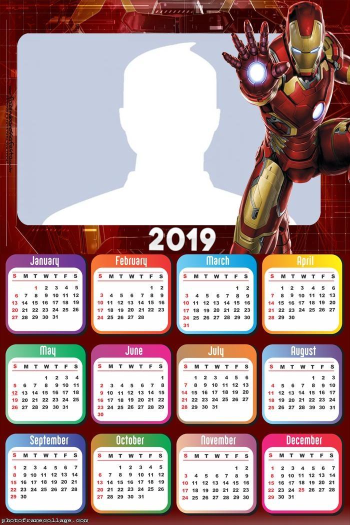 Calendar Iron Man 2019